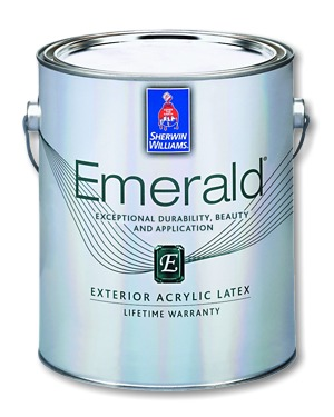 Emerald exterior acrylic latex paint performance coating for Emerald satin paint